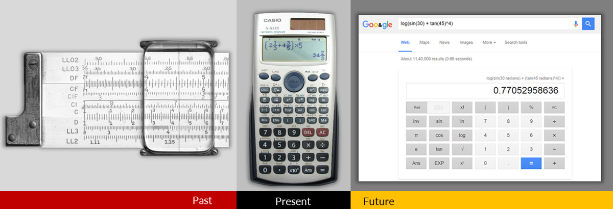 Scientific calculator evolution