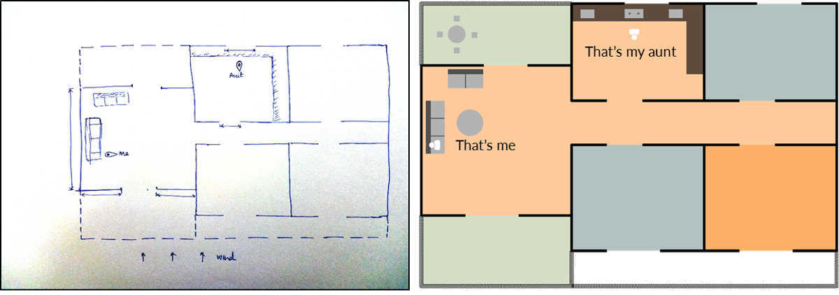 House sketch and layout