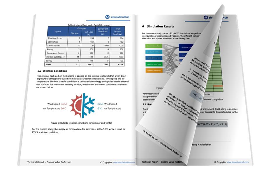 Thermal comfort cfd analysis report