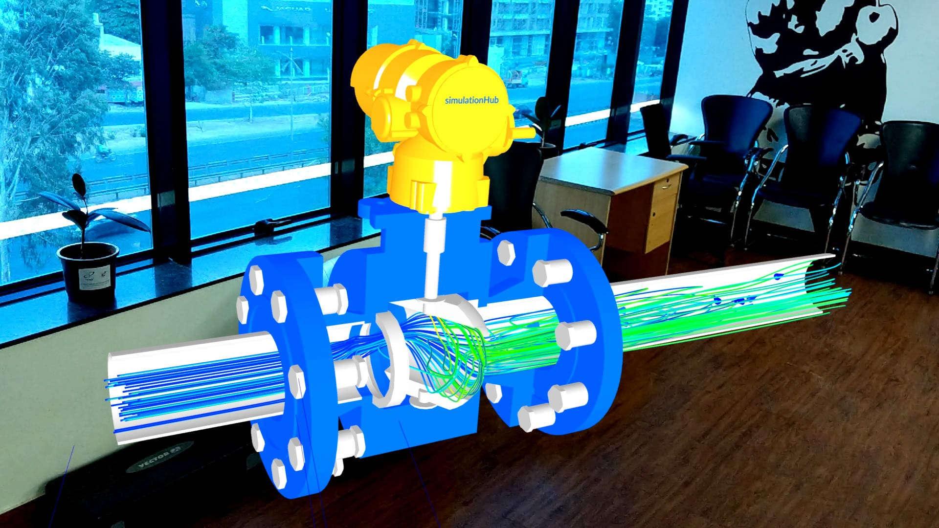simulationHub's valve Augmented Reality (AR) application