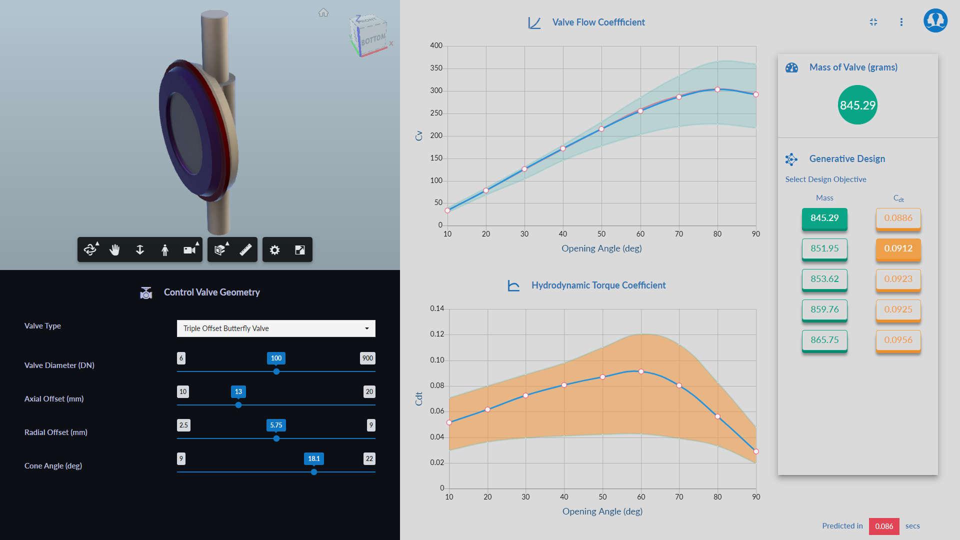 simulationHub's valve design using Machine Learning - ML application