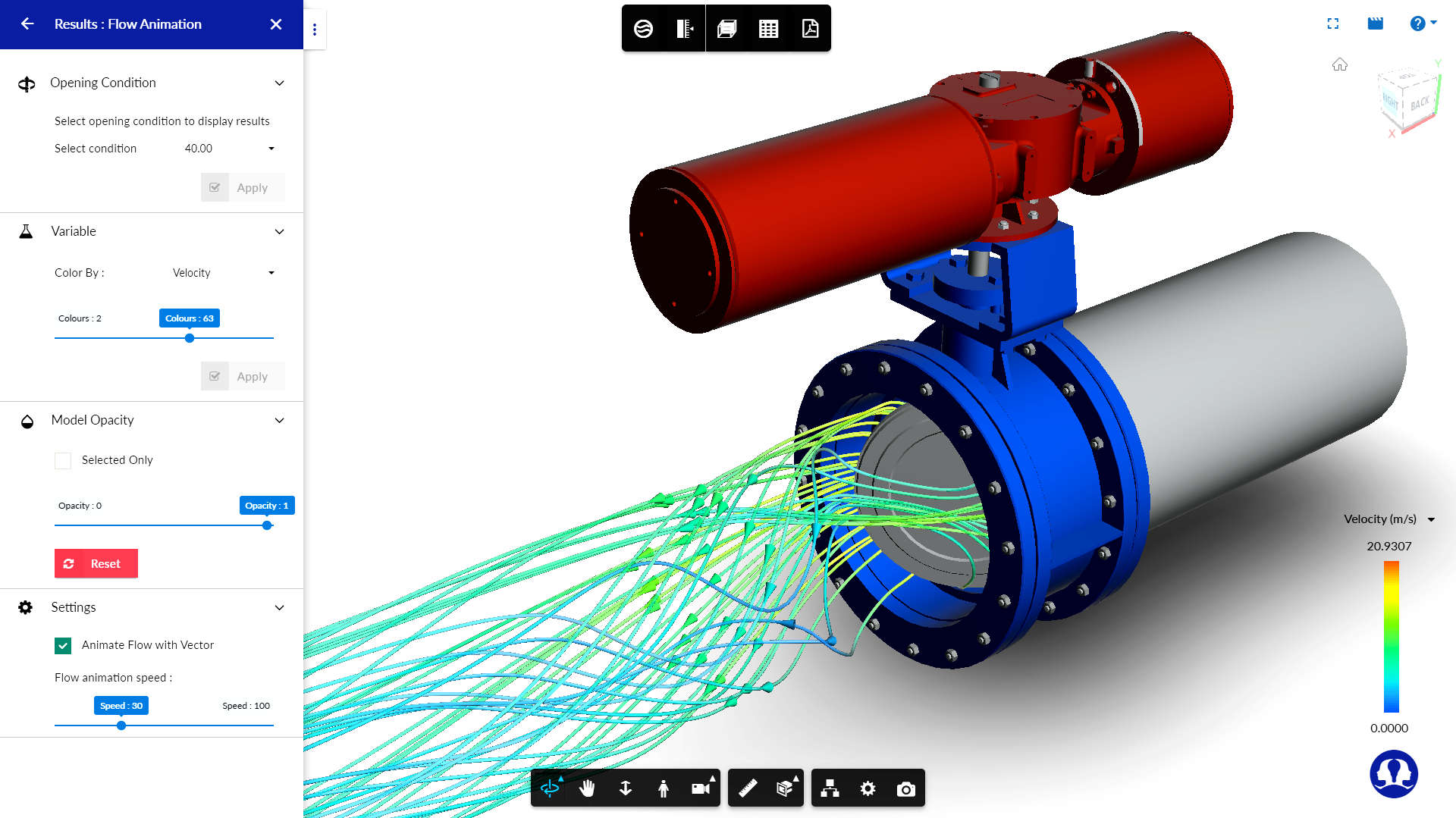 simulationHub's Autonomous Valve CFD (AVC) application