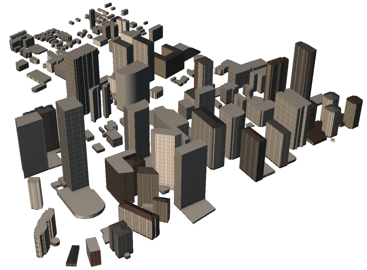 3D CAD model of the high-rise buildings