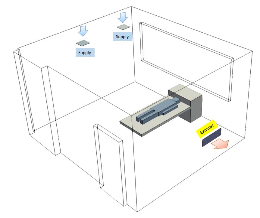 Isolation Room Exhaust Configuration Case 1